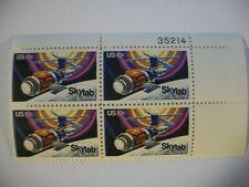 10c MINT PLATE BLOCK OF FOUR SCOTT 1529 FVF,MNH SKYLAB Launching 1st Anniversary
