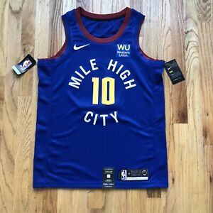 NWT Men's Nike Denver Nuggets Bol Bol Blue Statement Swingman Jersey Sz 44 (M)