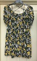 South Yellow Rose Print Boho Top, Size 20-22 - Lovely!