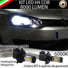KIT FULL LED VW POLO 6R 6C LAMPADE LED H4 6000K LUCE BIANCA NO ERROR 8000 Lumen
