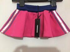 New Baby Girls Designer Diesel Pink Holo Striped Summer Skirt 3m