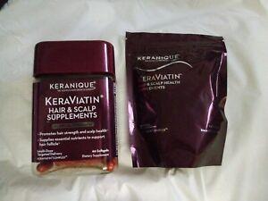 KERANIQUE KERAVIATIN Hair & Scalp Supplements 60 Soft gels