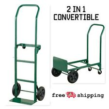 Harper Trucks 2-in-1 Convertible Hand Truck And Dolly, Steel, 400 Lb. Capacity