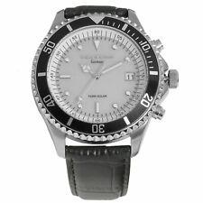 L&G - Rosenheim leather - Funkuhr mit Solar-Technologie / Herren-Armbanduhr