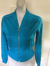 Adidas Ladies Respect Me Zip Up Turqoise Track Top Size 10