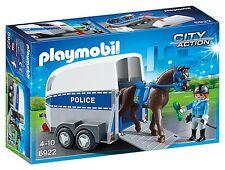 Playmobil 6922 policías con remolque para caballos y