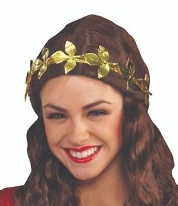 Gold Leaf Wreath Headband Elastic Roman Headband New by Forum