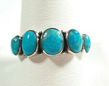 925 STERLING SILVER MULTISTONE TURQUOISE BAND SIZE 11 RING