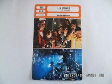 CARTE FICHE CINEMA 1985 LES GOONIES Sean Astin Josh Brolin Jeff Cohen C.Feldman