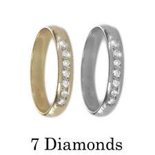 Anillos de joyería con diamantes en oro amarillo de boda de 9 quilates