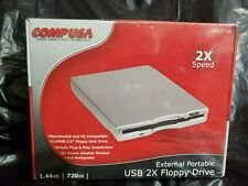 New Portable 1.44MB 720KB Diskettes USB External Floppy Disk Drive Comp USA RARE
