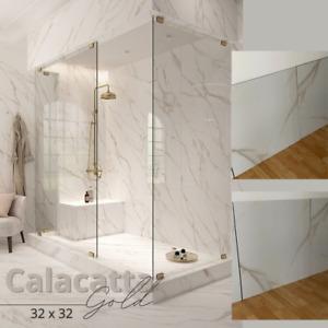 Calacatta Gold - 32x32 Porcelain Tile - Polished - Rectified Porcelain