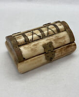 Vintage Small Camel Bone Trinket Box Handmade Egypt Hand Crafted Container