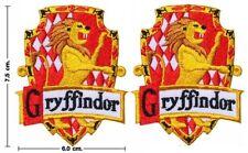 2 x Harry Potter Wappen GRYFFINDOR Aufnäher Patch *SOFORTVERSAND*