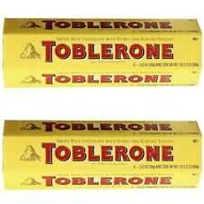 Toblerone Swiss Milk Chocolate Bars candy with Honey and Almond Nougat (12 bars)