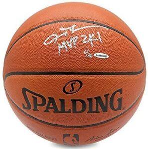 """ALLEN IVERSON Autographed """"MVP 2K1"""" 76ers Spalding Basketball UDA LE 3/30"""
