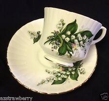 Royal Stafford England Bone China Lilly of the Valley Tea Cup & Saucer set