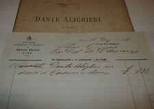 Divina Commedia, Cimato: Dante Alighieri discorsi Carducci Bovio 1888 Loescher