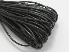 50 Meters Black Waxed Cotton Beading Cord 1.5mm Macrame Jewelry String