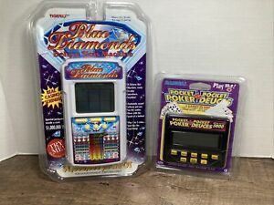 Radica Pocket Poker Pocket Deuces Royal Flush 5000+Tiger Blue Diamonds Slot Mach