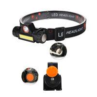 Mini LED USB Stirnlampe Kopflampe Magnet Einstellbar Beleuchtung Camping DE