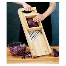Cabbage Shredder Wooden Vegetable Slicer Triple Blade Cutter Slaw Board Chopper