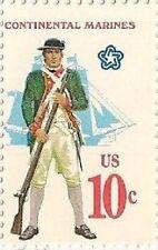 US 1567 Military Uniforms Continental Marines 10c single MNH 1975