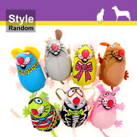 Cat Chew Toys Canvas Mouse Mice Catmint Catnip Stuffed Toys Random Color 1pcs