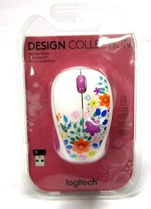 Logi Design Collection Wireless Optical Mouse with Nano Receiver Flowers