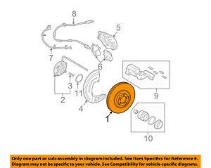 FORD OEM Front Brake-Disc Rotor 6L1Z1125A