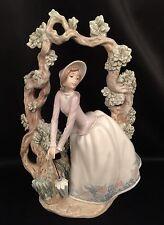 "VERY Rare & Mint Condition~ Lladro ""Girl Standing Under Trellis"" (5297)"