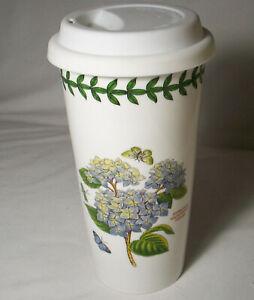 Portmeirion BOTANIC GARDEN: Ceramic Travel Mug with Silicone Lid: EXC: NR