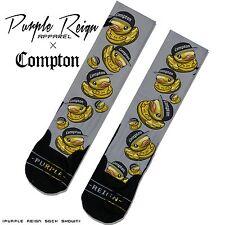 """Compton Ducky"" Custom Premium Socks (ALL SZ) Classic Dope sox jordan nike"
