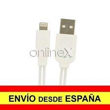 Cable Plano Valido para iPhone iPad iPod Carga-Datos Blanco 1m con Luz Led a1778