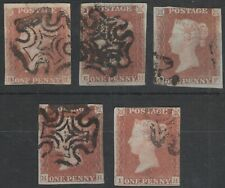 1841 SG7 1d RED BROWN SHADES - BLACK PLATE 1b SPACEFILLER RECONSTRUCTIONS STUDY
