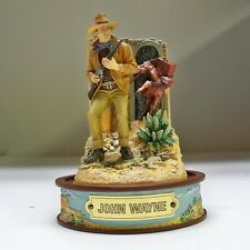"Franklin Mint John Wayne ""Cattle Baron"" Hand Painted Figurine With Dome"