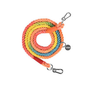 7 FT Dog Leashes Rope Hand Woven Double Head Lead Soft Light Weight Strong