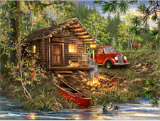 BACK IN STOCK! NEW! COZY CABIN LIFE 500 PIECE JIGSAW PUZZLE