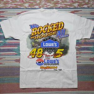 Lowes Team Racing Shirt Adult Medium White Kyle Bush Jimmie Johnson Nascar Mens
