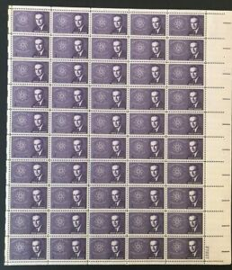 US Sheet 4c Stamps (50) BRIEN McMAHON ATOMIC ENERGY ACT c 1962 #1200