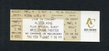 Original 2002 Alicia Keys concert ticket Chicago Arie Crown Songs In A Minor