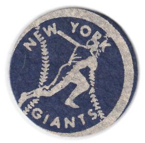 """1940'S/50'S NEW YORK GIANTS MLB BASEBALL VINTAGE 2"""" TEAM PATCH BLUE WHITE"""