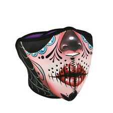 Sugar Muerte Skull Pink Half Neoprene Face Mask Biker Ski ATV Costume Ladies