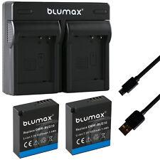 2x Batterie pour Panasonic dmw-blg10 1025 mAh + Dual Charger blg10e   65238-90108-90378