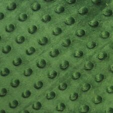 """Green Minky Dot Cuddle Fabric - Sold By The Yard - 58""""/ 60"""""""