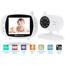 "2.4G 3.5"" Digital Wireless Baby Monitor 2 Way Talk Video Audio Color IR Camera"