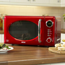 Akai Red Microwave Oven - 70 Watt 20 Litre 5 Power Levels A24009