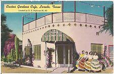 Cactus Gardens Cafe in Laredo TX Postcard