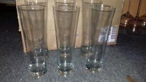 lot de 6 petits vases en verre TBE