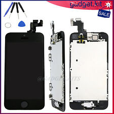 For iPhone 5S LCD Replacement Touch Screen Digitizer Home Button Camera Black A+
